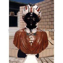 Delicado negro africano tallada a mano de estilo escultura de encargo de mármol del busto