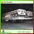 60 Ton container trailer tractor semi trailer / 60ton 3 axle 40'' flatbed container trailer