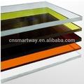 Transparente de color barato plexiglás hoja