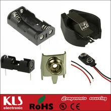 Waterproof 18650 26650 2AA 4AA 3AAA 8AA 3AA AAA AA battery holder for 3.7V 4.5V 6V 9V 12V spring battery snap UL CE ROHS CCC