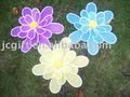 2014 venta caliente flor de jardín de primavera de molino de viento decoración adornos de jardín