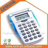 Promotional desktop calculator with flip cover