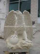 Fashionable marketable white marble carved eagle