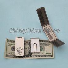 Practical 3-folded money clip, metal money clip