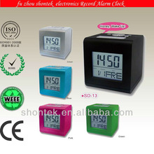 Fashionable Voice Record Digital Alarm Clock