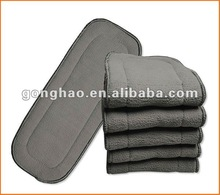free shipping baby cloth diaper insert high absorption organic bamboo charcoal insert