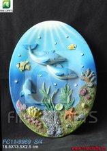 Polyresin dolphin wall decor