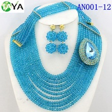 African beads jewelry set with one brooch