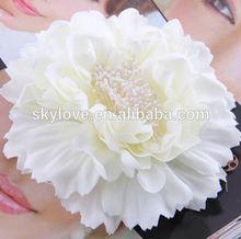 2015 wholesale handmade chiffon fabric flower brooches