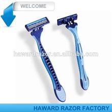 brand name razor blade - triple blade disposable razor- pivoting head