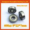 chrome steel deep groove ball bearing miniature ball bearing 608zz bearing