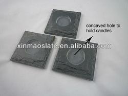 natural slate candle holders/dark slate moving lights menorah