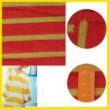 Knitting fabric brushed double stripe