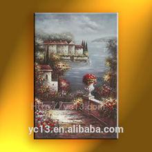 home decor Great artwork garden scenery oil painting
