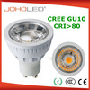 Aluminium lens CRI 80 6w 5W 400lm led gu10 cob led lights gu10 / led spot gu10/led bulb gu10
