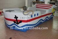 new design PU modern bedroom kid boat bed