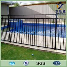 Black powder coated security steel backyard metal fence