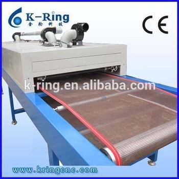 Infrared screen printing conveyor dryer for t shirts ,garment ,textile ,etc KRI800/6000