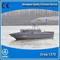 alta velocidade 2015 alumínio militar de barco de patrulha para venda