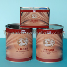 paint tin, 4L tin container