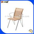 Extérieur en aluminium patio, zt-1059c chaises en bois