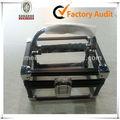 Personalizado y cosméticos bolso de la joyería marco negro estuche de cosméticos caso de acrílico mld-ac1532