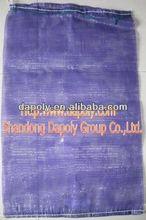 shandong qingdao good factory vegetable onion potato fruite packaging gym bag with mesh pocket