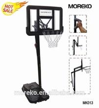 Portable Basketball Stand with breakaway rim, fiberglass basketball backboard,adjustable basketball stand MK013