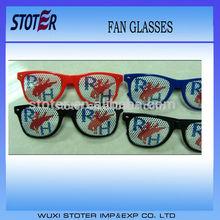 Promotional Logo Imprint Football Fan Glasses