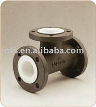 PTFE lined reducing tee