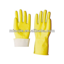 cleaning yellow flocklined kitchen latex gloves