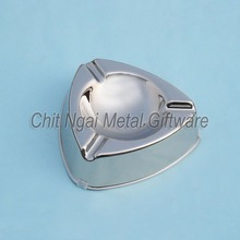 Stainless steel triangle metal ashtray