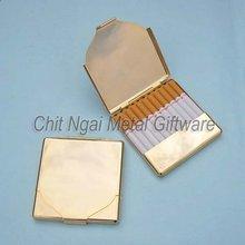 Exquisite cigarette box in imitation gold plating