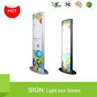 2015 Illuminated Free Standing Vertical Light box Column Display Stand