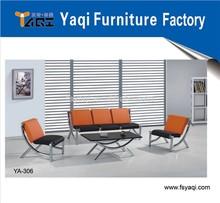 Popular modern leather office sofa(YA-306)