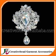 china wholesale brooch flower rhinestone brooch,Huge Large Crystal Wedding Brooch forbridal bouquet or jewelry decoration