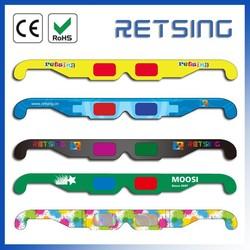 Red Blue Paper 3D Glasses, OEM Printing