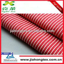 Red stripe tecidos 100% camisas de algodão tecido