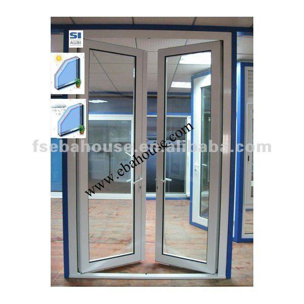 De rotura t rmica de aluminio de puerta batiente ce porte - Puertas de aluminio doble hoja ...