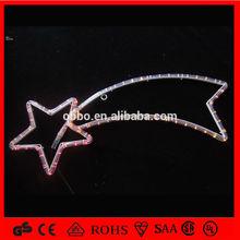 warm white led rope light christmas decoration motif street light rope pole street light with meteor