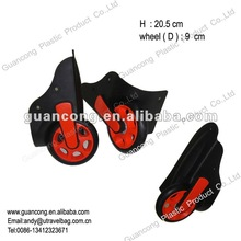 Plastic luggage carrier wheels for suitcase SX12w-01