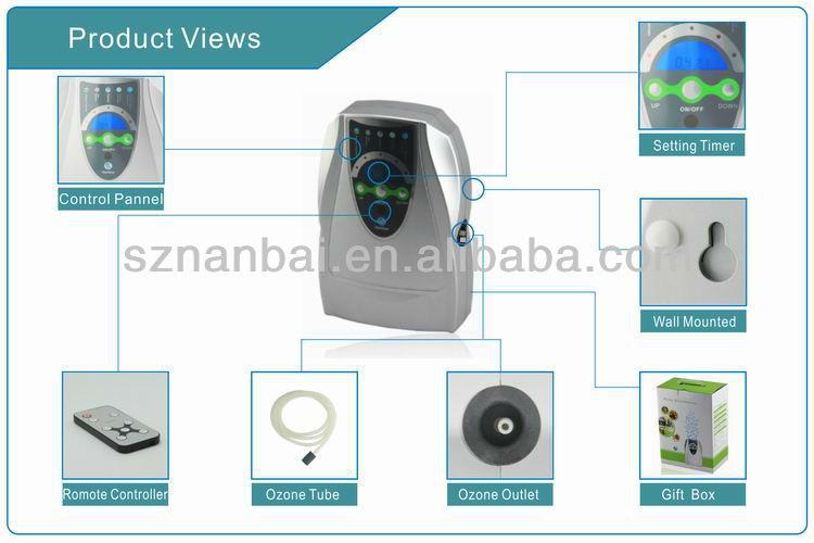 Télécommande ozoniseur générateur, ozone purificateur d'air ozone purificateur d'eau avec& ozone. 500mg/h& minuterie lcd