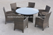 6 Seater Patio Round Rattan Dining Table Set Outdoor Furniture FCO-2005