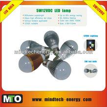3000hrs 5w dc 12v solar led bulb