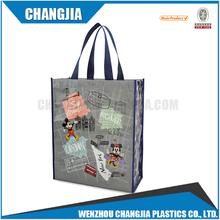 Hot cheap customs reusable shopping bags plastic