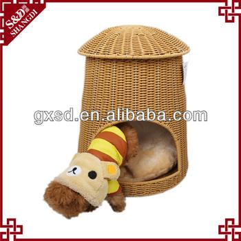 PE rattan Handmade durable waterproof dog house dog cage pet house