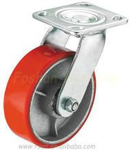 Hardware Polyurethane Iron Swivel Industrial Caster Wheel,