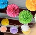 Flores de papel de casamento decorações de parede