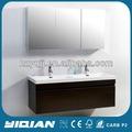 China armário de parede pendurado bacia resina pias duplas verniz armário espelho do banheiro