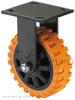"""5"""" heavy duty fixed polyurethane PU caster wheel"""